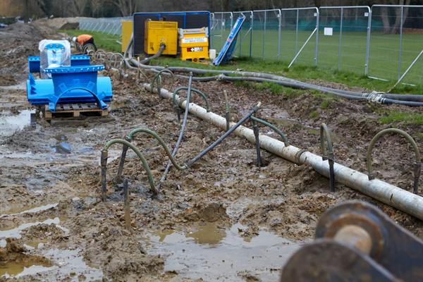 dewatering pipework maintenance