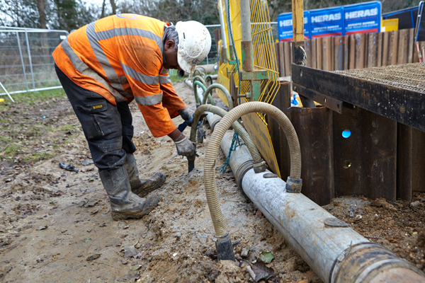 installing a dewatering system