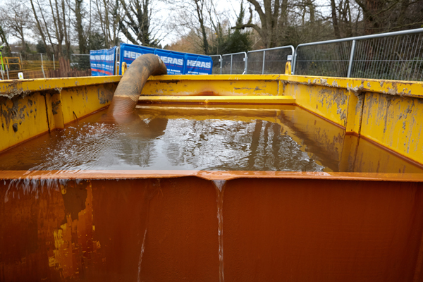 excess water container