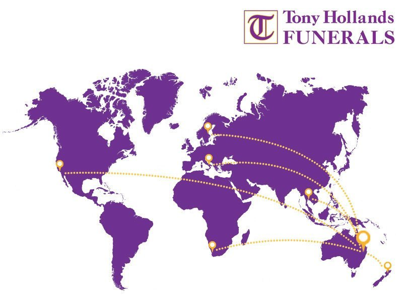 Tony Hollands Funerals World Map