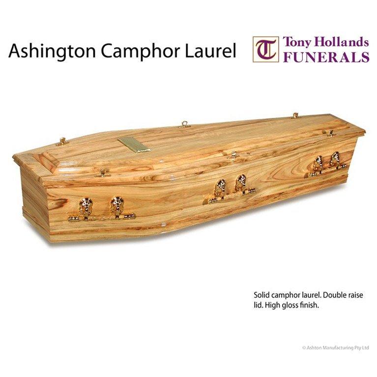 Image of a Ashington Camphor Laurel Coffin at Tony Hollands Funerals