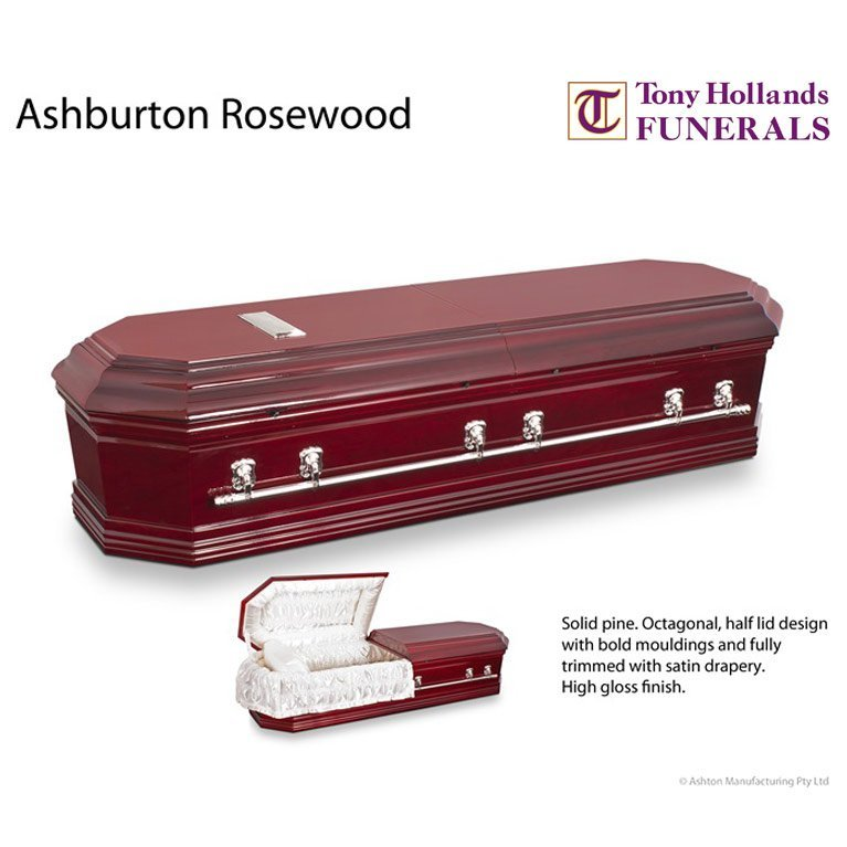 Image of a Ashburton Rosewood Casket at Tony Hollands Funerals
