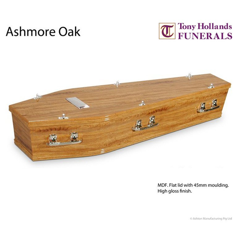 Image of a Ashmore Oak Coffin at Tony Hollands Funerals