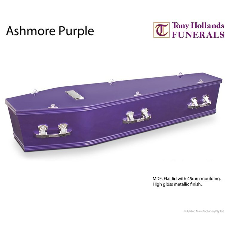 Image of a Ashmore Purple Coffin at Tony Hollands Funerals