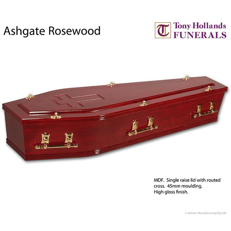 Image of a Ashgate Rosewood Coffin at Tony Hollands Funerals