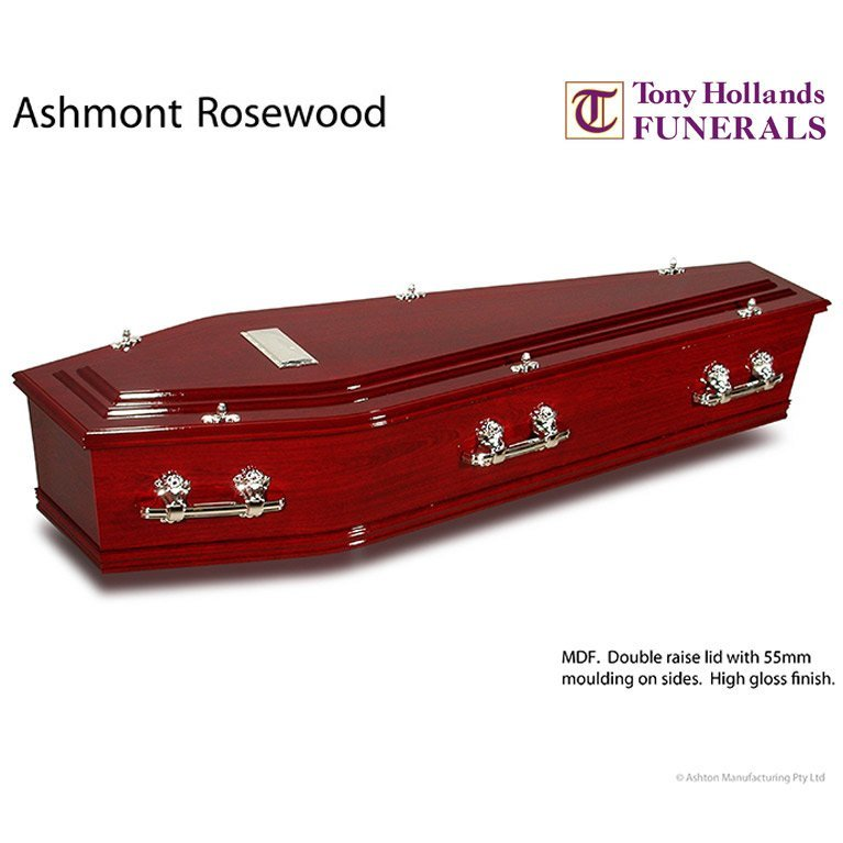 Image of a Ashmont Rosewood Coffin at Tony Hollands Funerals