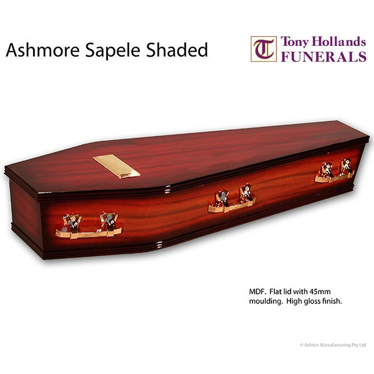 Image of a Ashmore Sapele Shaded Coffin at Tony Hollands Funerals