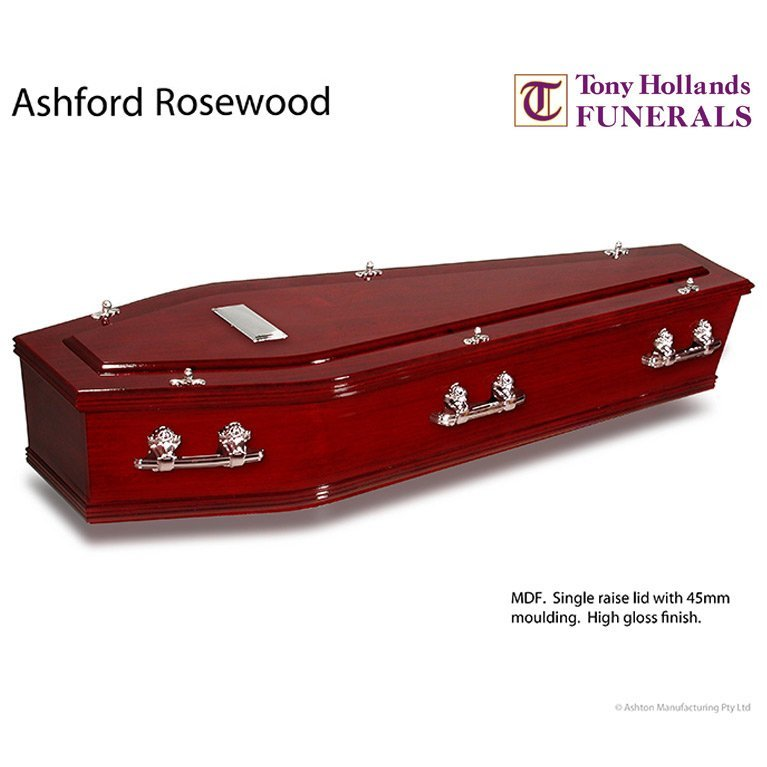 Image of a Ashford Rosewood Coffin at Tony Hollands Funerals