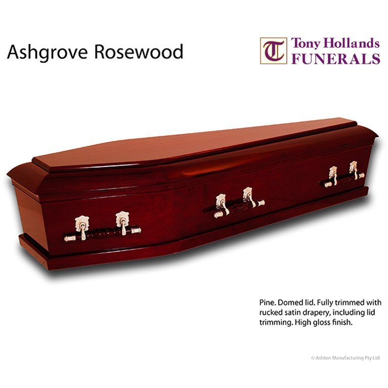Image of a Ashgrove Rosewood Coffin at Tony Hollands Funerals