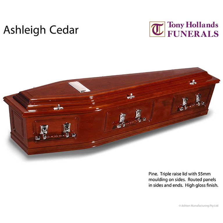 Image of a Ashleigh Cedar Coffin at Tony Hollands Funerals
