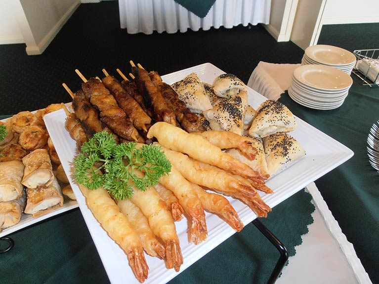 Centenary Memorial Gardens Catering Seafood and Skewers