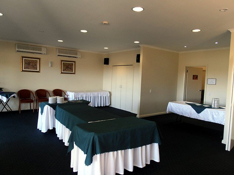 This is an image of the Centenary Memorial Gardens Catering Room showing the tables