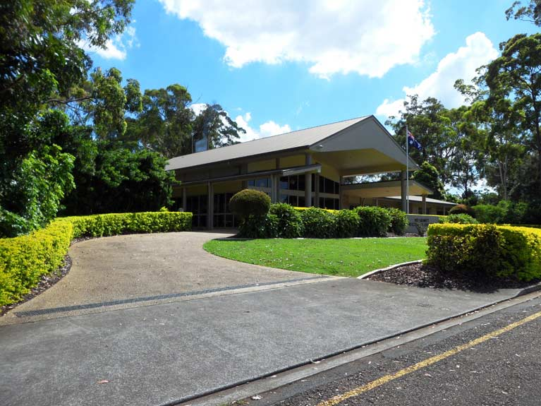 This is an image of how to get to the Mt Gravatt Crematorium Entrance using the driveway