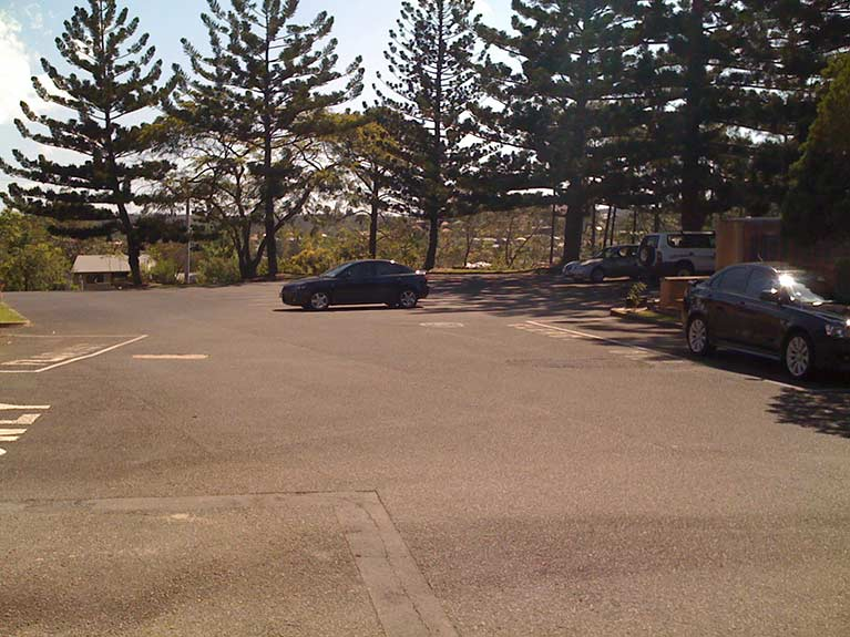 This is an image of the West Chapel carpark at Mt Thompson Memorial Park