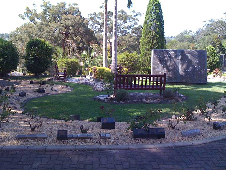 This is a view of the Memorial Gardens at Mt Thompson Memorial Park
