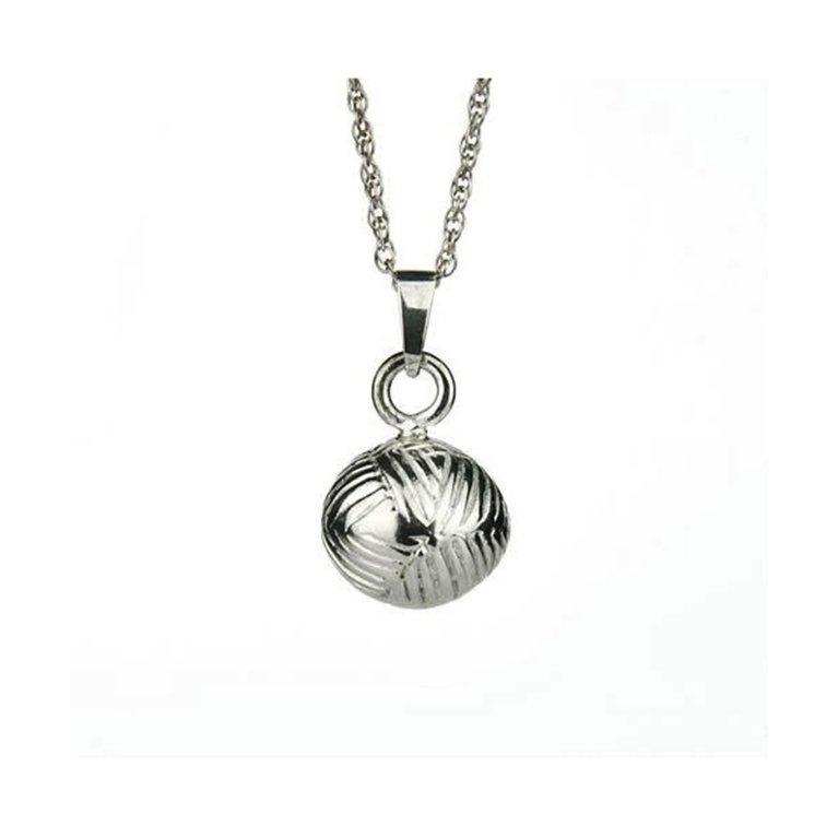 Silver Yarn Pendant w008