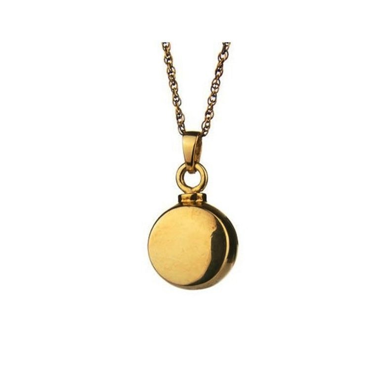 Gold Plated Round Pendant Keepsake W009