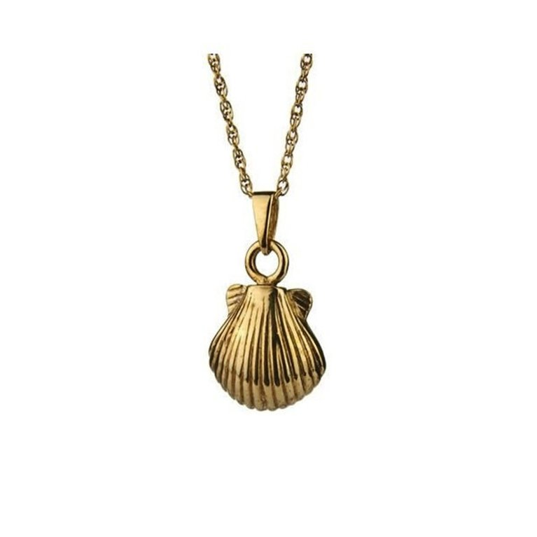 Gold Shell Pendant w017