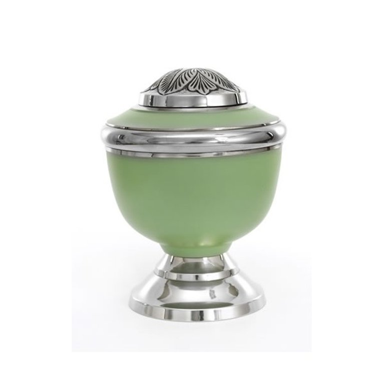 Green Chrome Brass Urn 20662
