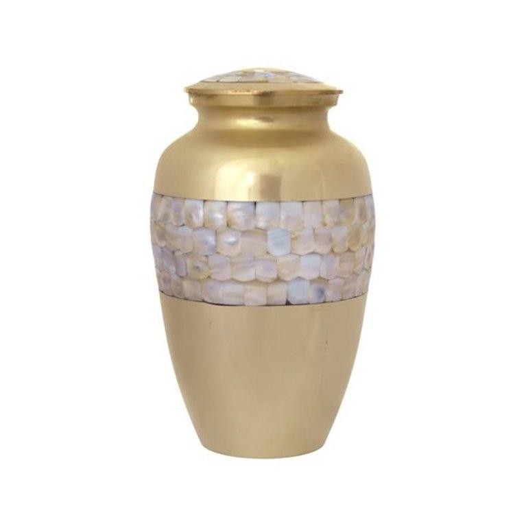 Pearl Side Brass Urn 20447