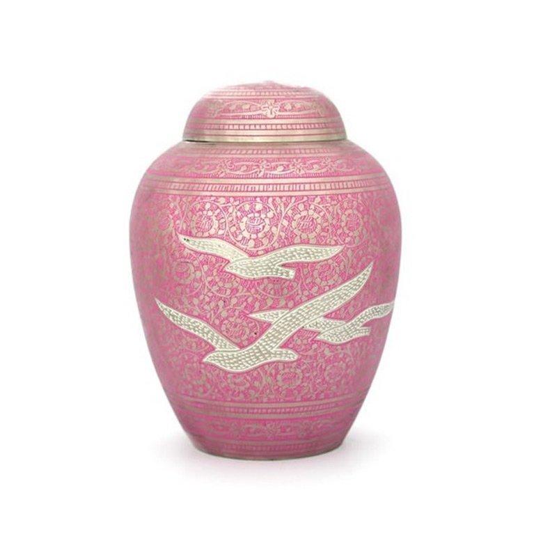 Pink Gulls Cremation Urn ubr108e