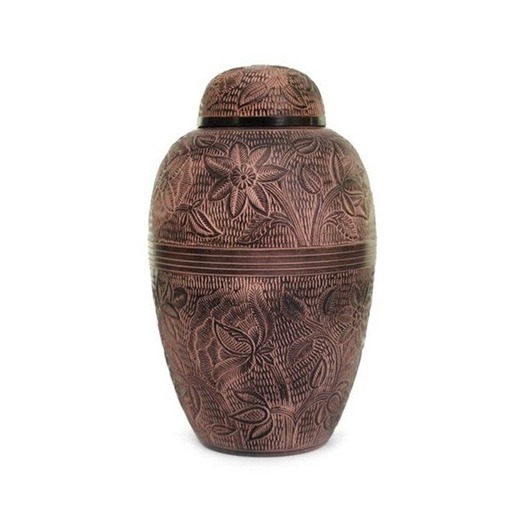 Brass Floral Urn 16379