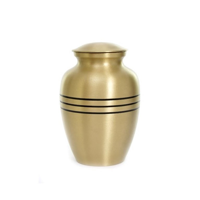 Brass Urn Black Band 16335