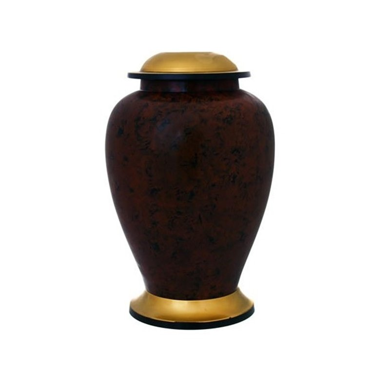 Brown Brass Urn 19939