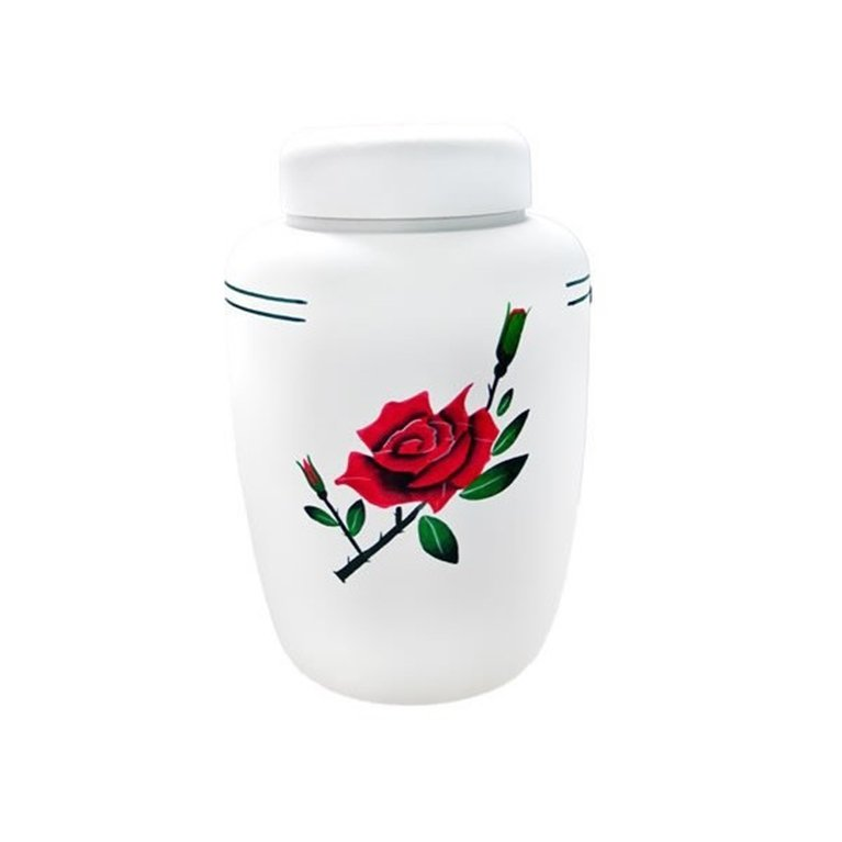 Red Rose Cornstarch Eco Urn