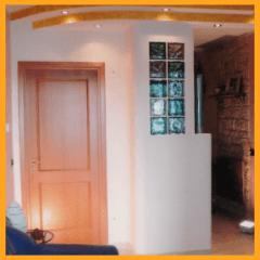 colonna in cartongesso, parete in cartongesso, parete divisoria, fantagesso