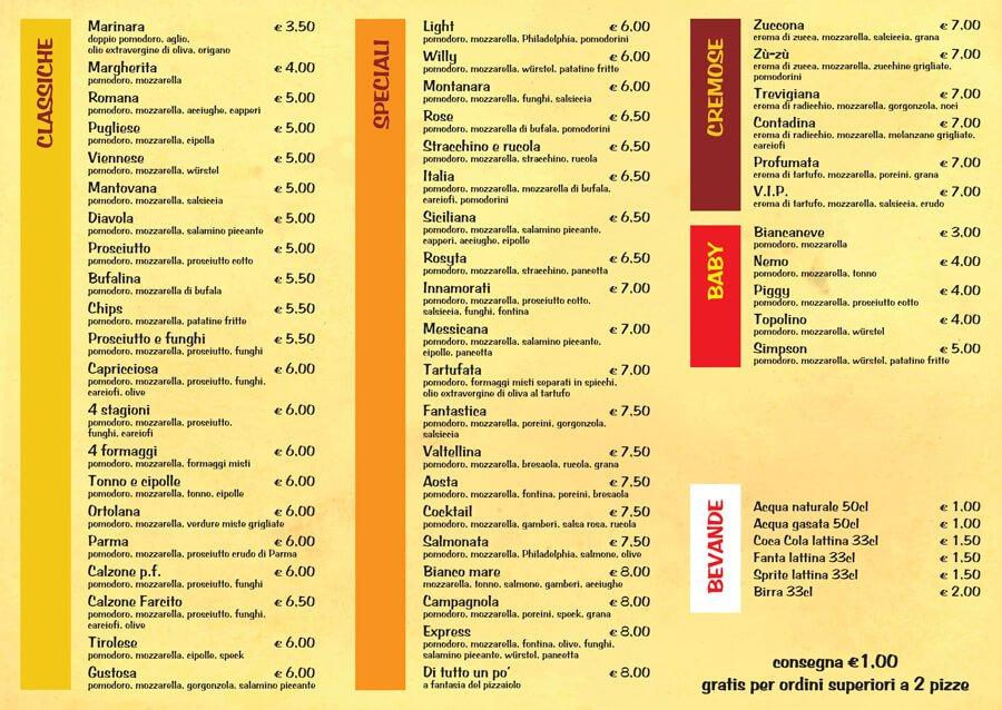 Pizzerie-PIZZA EXPRESS-Mantova-pieghevole-interno