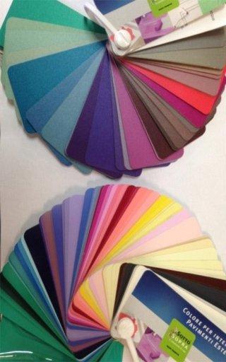 ventaglio di colori disponibili per pitturare