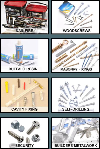 Various screws and fixings
