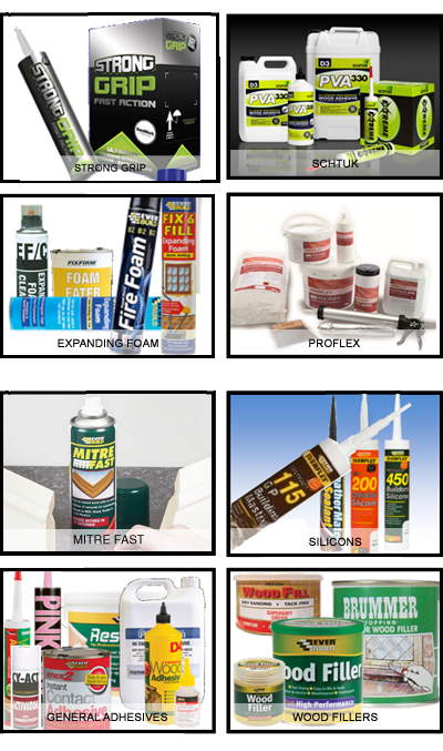 Various adhesives and sealants