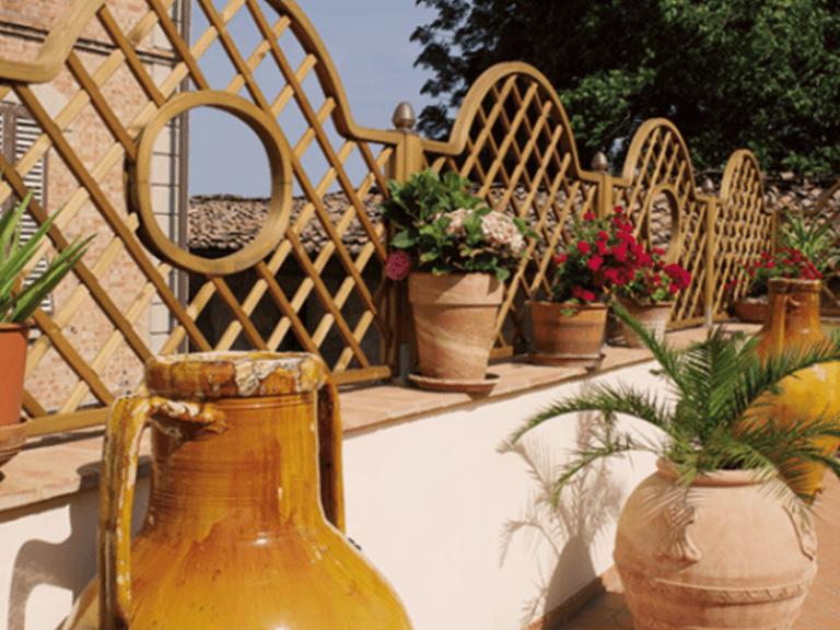 griglia per terrazzi in legno