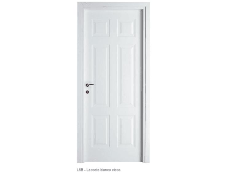porta laccata  laccato bianco cieca