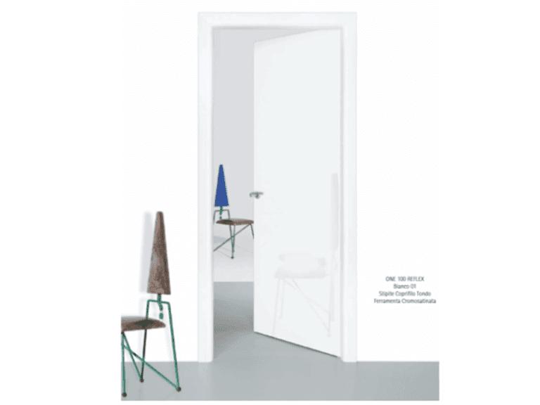 porte riflettenti colorate bianche