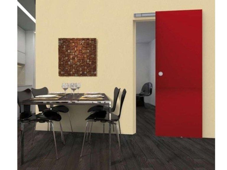 porta interna scorrevole rossa