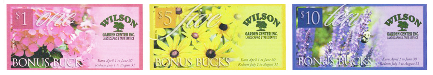 Wilson Garden Center Bonus Bucks