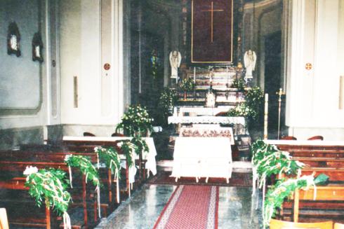 fiori altare centrale