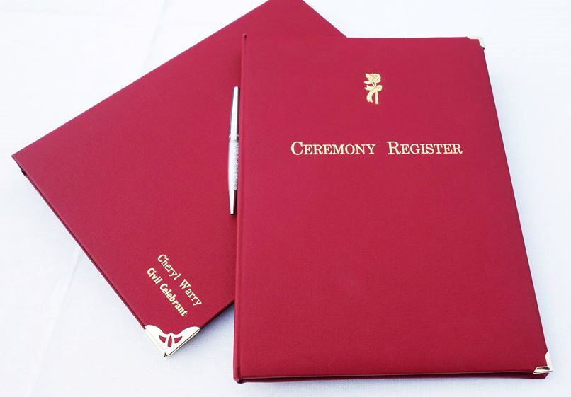 ceremony presentation folders for signing documents