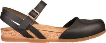 sandalo nero con suola tipo sughero