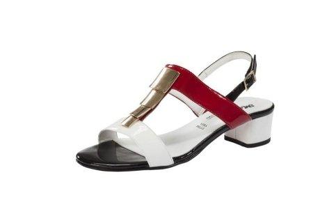 scarpa aperta bicolore