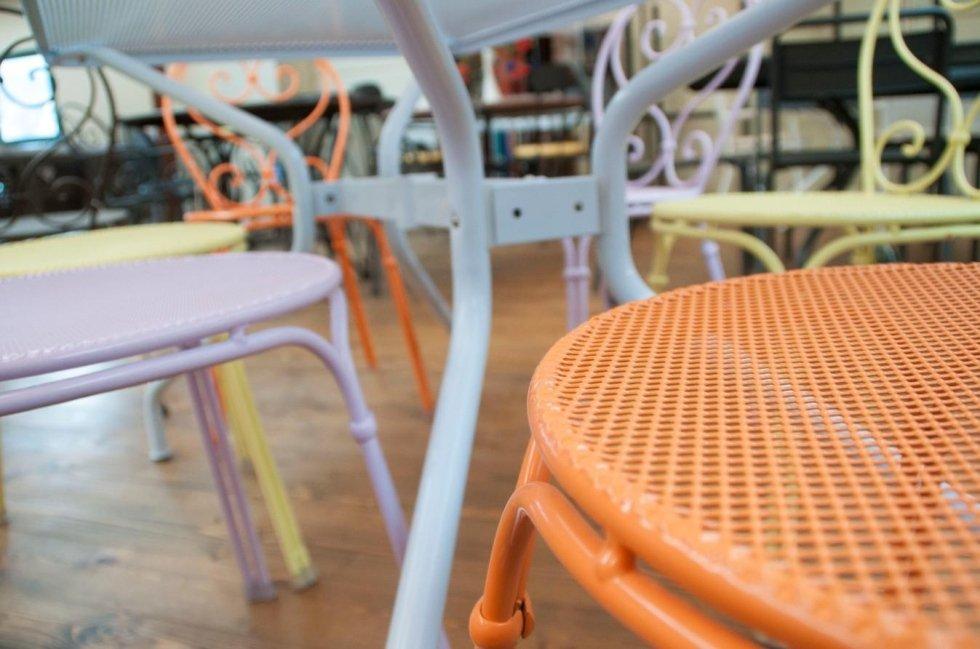 sedie in ferro emu da esterno Cit tende Casarza Ligure