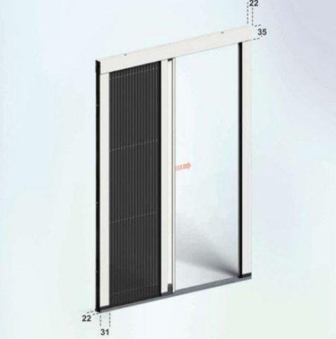 il progetto disegnato dui una finestra bianca e nera