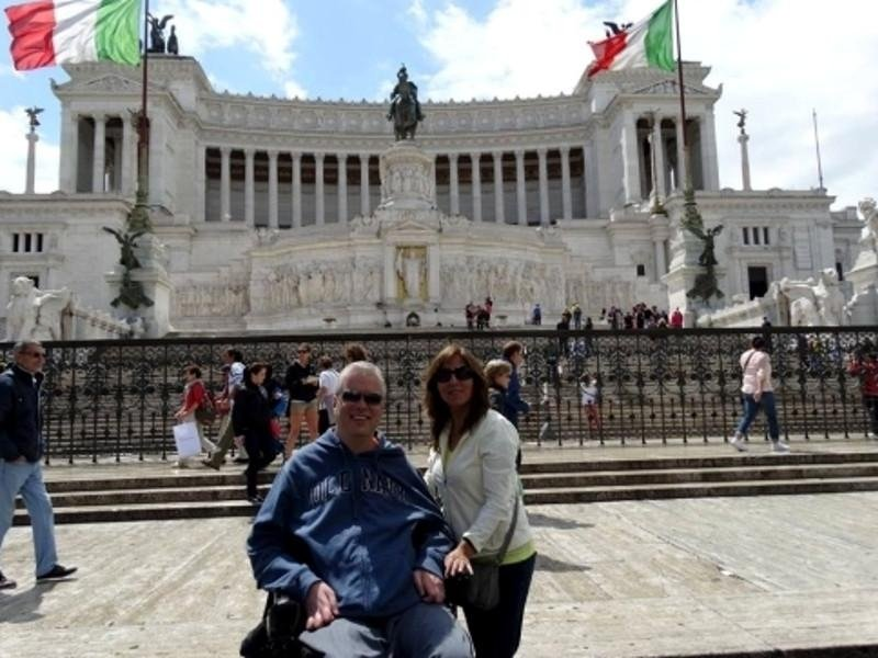 Our friend Bruce with his wife on tour in Rome with Fausta Transportation