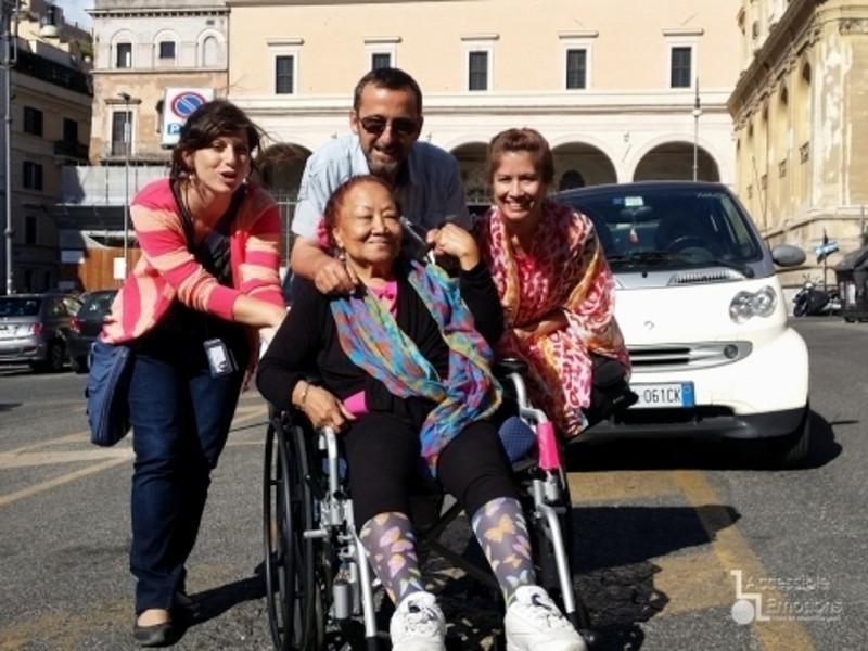 tour a Roma con una nostra amica e Massimo