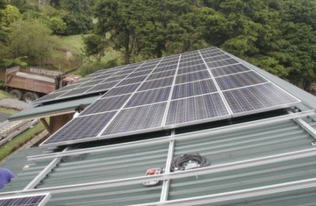 Cloud Forest Coffee installed 12.6KW off grid solar power system in Honokaa, HI
