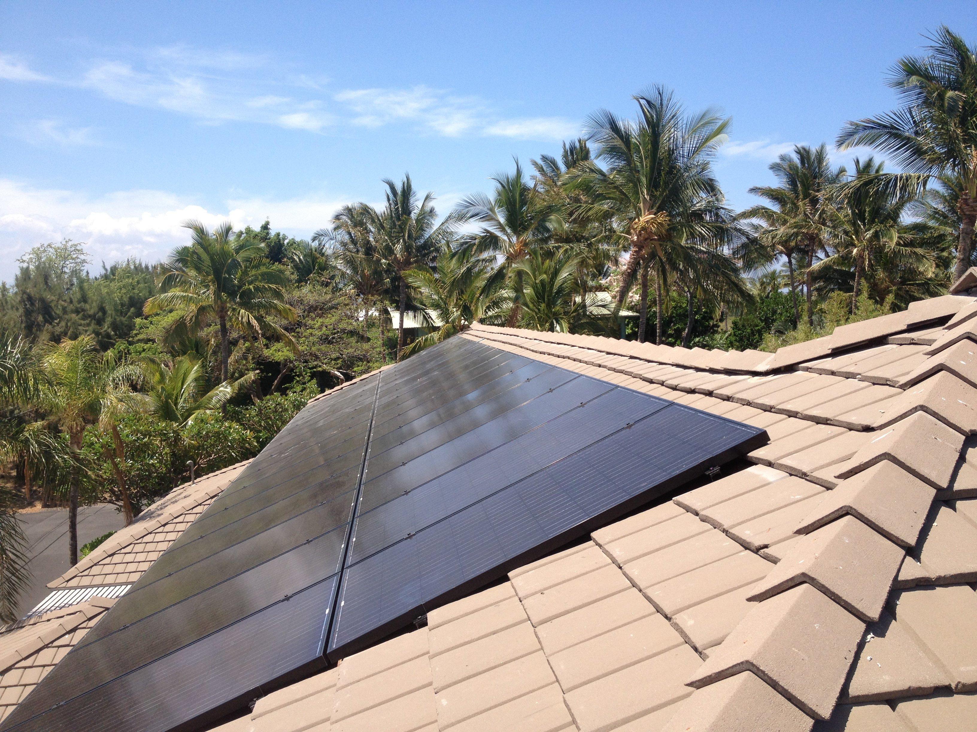 11.96 KW Solar PV system installed on rooftop in Honokaa, HI