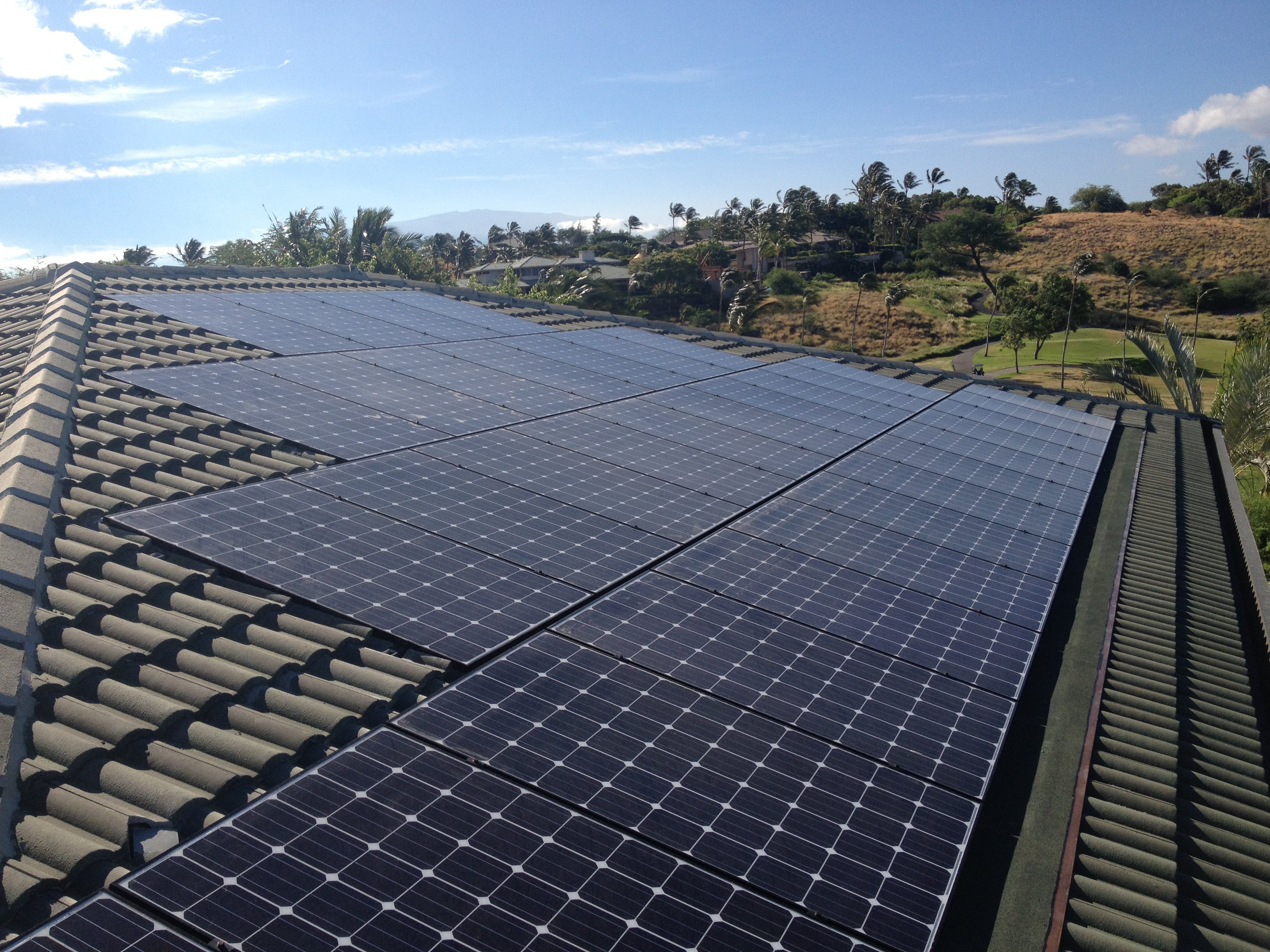 25 KW Solar PV system installed on rooftop in Honokaa, HI